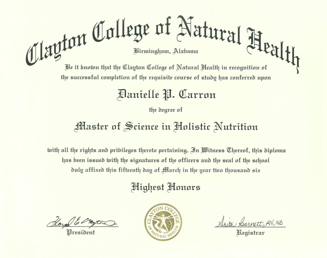 Holistic Health and Nutrition what to study in college